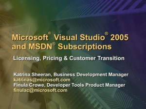 Visual Studio 2005 - Microsoft Center