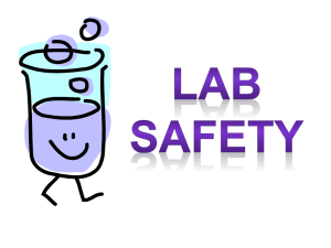 Lab Safety Scenario #1