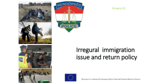 Irregural immigration issue and return policy