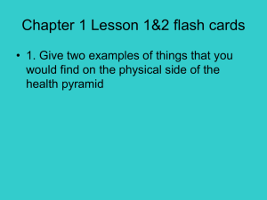 Chapter 1 Lesson 1&2 flash cards
