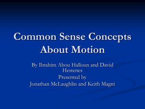 Common Sense Concepts about Motion