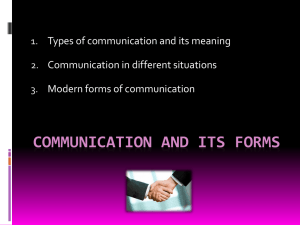 communication and its forms