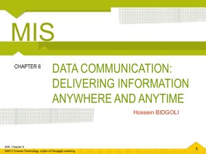 Chapter 6 Data Communication: Delivering Information Anywhere