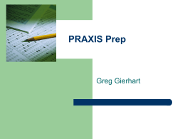 PRAXIS Prep - Murray State University