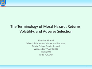 Moral_Hazard - School of Computer Science and Statistics (SCSS)