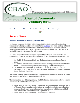 Capitol-Comments-01 - Community Bankers Association of Oklahoma