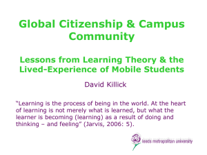 Global Citizenship & Campus Community Lessons from Learning