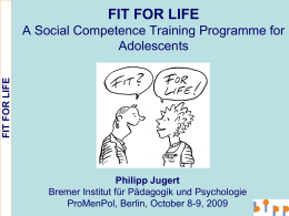 5. Philipp Jugert: FIT FOR LIFE - European Network for Mental