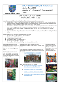 Parkfield Primary School HALF TERM HOMEWORK ACTIVITIES