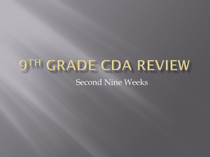9th grade CDA Review