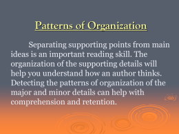 patterns-of-organization
