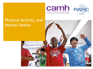 mental health? - PARC - The Physical Activity Resource Centre