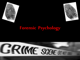Forensic Psychology - Mrs. Clark: Henry Clay High School