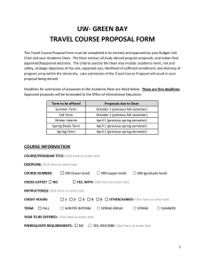 uw-green bay travel course proposal