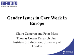 Gender Issues - Men in Childcare