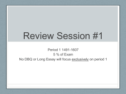 Review Session #1