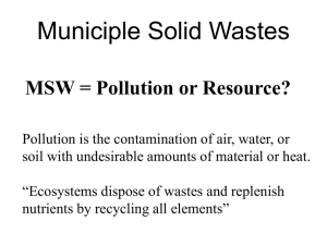 Municiple Solid Wastes
