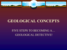 GEOLOGICAL CONCEPTS
