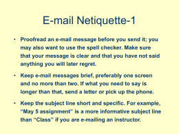 E-mail Netiquette-1