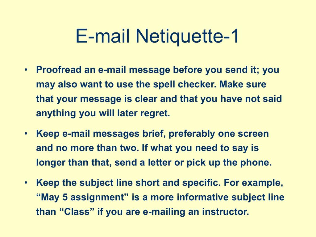 social networking netiquette