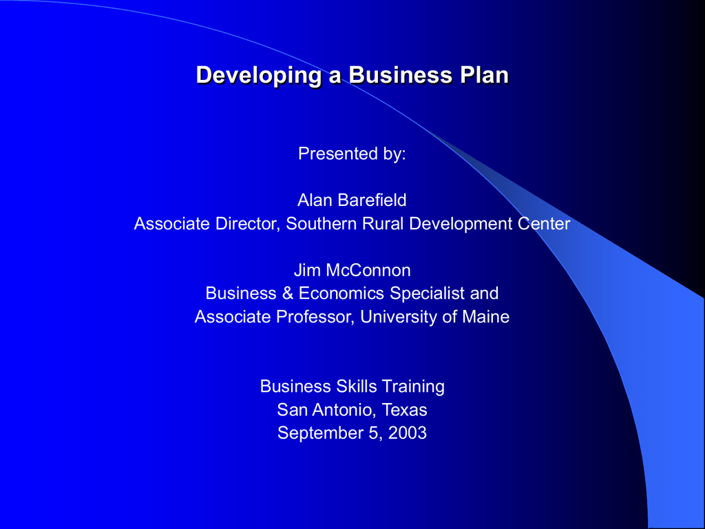 business plan training course