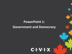 PowerPoint 1 — Government and Democracy