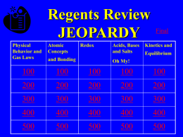 Organic Jeopardy