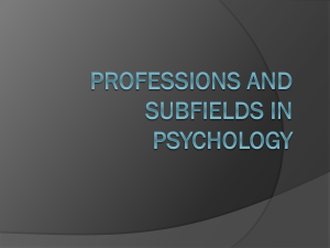 Professions and Subfields in Psychology