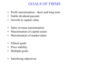 GOALS OF FIRMS