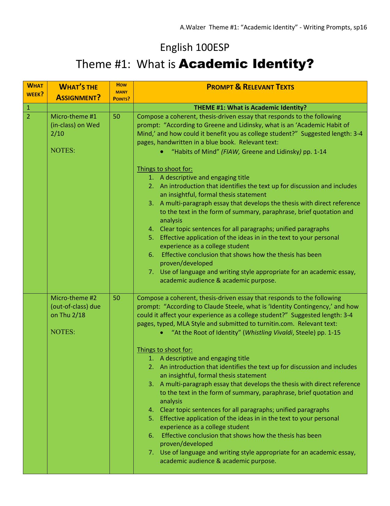 identity contingency