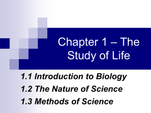 Introduction to Biology – Unit 1A