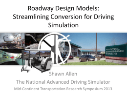Roadway Design Models - Iowa State University