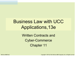 Legal Rules for Written Contracts