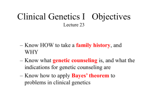 Clinical Genetics Objectives Lectures 26-28