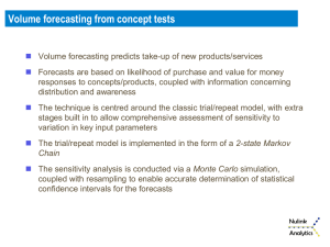 Volume forecasting from concept tests