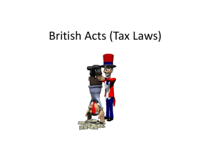 British Acts (Tax Laws)