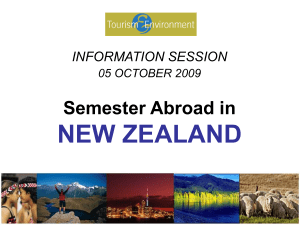 INFORMATION SESSION Semester Abroad in