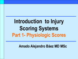 Introduction to Injury Scoring Systems Part 1