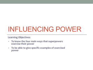 Influencing Power
