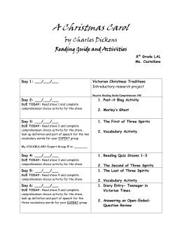 A Christmas Carol Vocabulary List – Periods 1 & 2