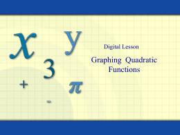 2.2: Graphing Quadratic Functions