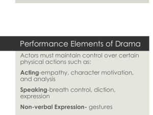 Performance Elements of Drama