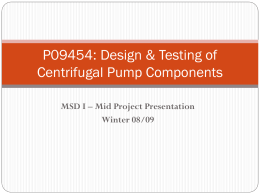 Design & Manufacture Centrifugal Pump Components