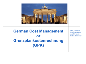 German Cost Management