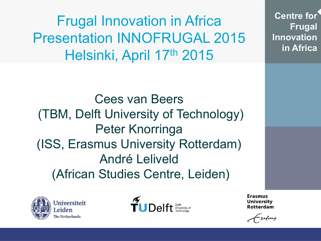 centre for frugal innovation in africa