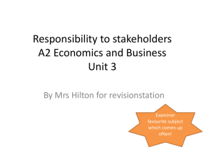 Responsibility to stakeholders