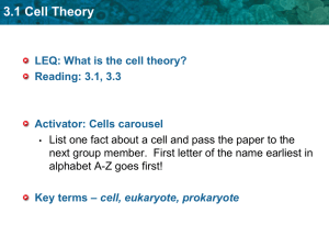 What is the cell theory?