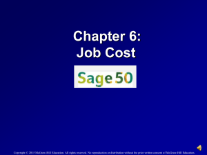 Job Cost - McGraw Hill Higher Education - McGraw