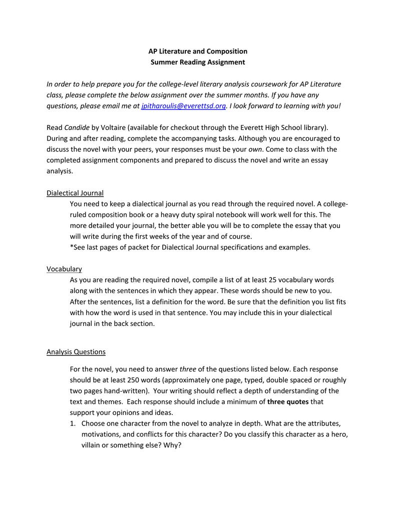 ap literature vocabulary list pdf