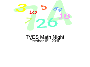 TVES Math Night
